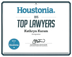 Houstonians Lawyer Certificate
